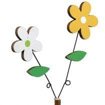 Dekostecker Holzblume H44cm 6St