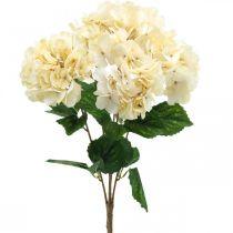 Hortensien Strauß Kunstblumen Gelb 5 Blüten 48cm