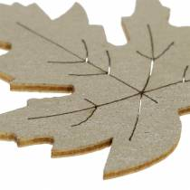 Streudeko Ahorn-Blätter Gelb, Braun, Platin Sortiert 4cm 72St