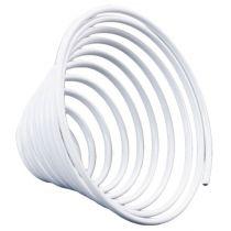 Aluminium Drahtschnecke Weiß 2mm 120cm