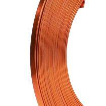Aluminium Flachdraht Orange 5mm 10m