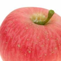 Deko Apfel Rosa, Gelb Real-Touch 6,5cm 6St
