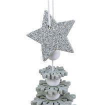 Baum zum Hängen mit Glocke Silber 29cm