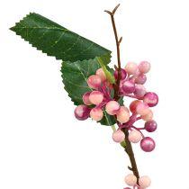 Beerenzweig künstlich Rosa-Lila 64cm 6St