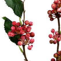 Beerenzweig künstlich Rot-Weiß 64cm 6St