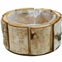 Pflanzkübel Birke Natur Birkentopf rund Holz Übertopf Ø13cm