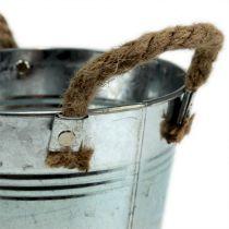 Blecheimer mit Seilgriffen glänzend Ø18cm