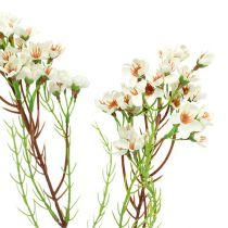Blütenzweig Grün, Weiß 80cm 3St