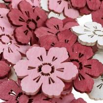 Holzblumen Kirschblüten, Streudeko Frühling, Tischdekoration, Blumen zum Streuen 72St