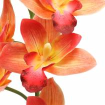 Orchidee Kunstblume Cymbidium Orange 74cm