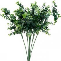 Deko-Eukalyptuszweig Dunkelgrün Künstlicher Eukalyptus Künstliche Grünpflanzen 6St