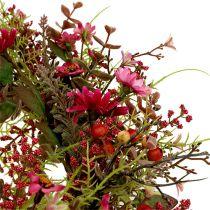 Deko-Kranz mit Beeren Ø25cm Pink