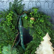 Deko Kranz groß Nadelzweige, Zapfen und Buchs Grün 70cm