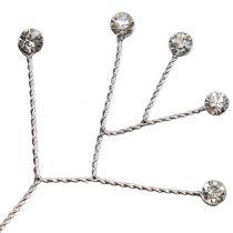 Diamantstrang klar glänzend 10cm 12St