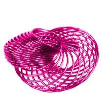 Drahträder Pink Ø4,5cm 6St