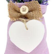 Lavendelbeutel 18cm mit Wachsherz