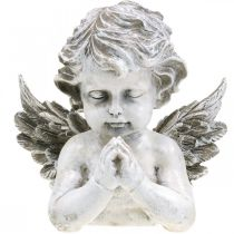 Betender Engel, Trauerfloristik, Büste Engelsfigur, Grabdeko H19cm B19,5cm