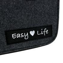 "Filztasche ""Easy Life"" 39cm x 22cm x 25,5cm Grau"