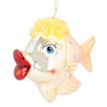 Christbaumschmuck-Fische, Dekoanhänger, Weihnachtsdeko Echtglas H9,5cm 2St