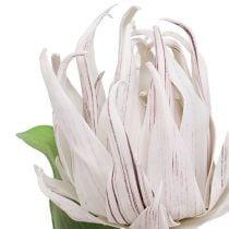 Foam Blüte Weiß, Lila 12cm L30cm 1St