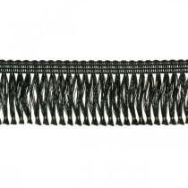 Fransenband, Kordonettborte, Leonische Fransen Schwarz B4cm L25m