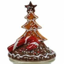 Keksdose mit Keramikdeckel Lebkuchen Rot, Braun H21,5cm Plätzchendose