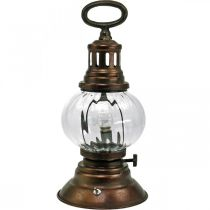LED-Sturmlaterne, Metall-Lampe, Deko-Leuchte, Vintage-Look Ø12,5cm H30cm