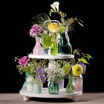 Glasvase Bauernsilber Rosa  H11cm 6St