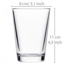 Glasvase klar Ø8cm H11cm für Tischdeko