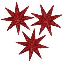 Glitterstern Rot Ø5cm 20St
