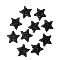 Glitterstern Schwarz 2,5cm 100St