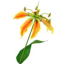 Gloriosa Zweig Orange-Gelb 90cm 1St