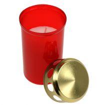 Grabkerze zylindrisch Rot Ø6cm H12cm 12St