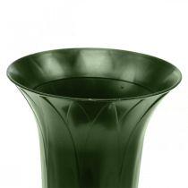 Grabvase 42cm Dunkelgrün Vase Grabschmuck Trauerfloristik 5St