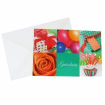 Gutschein Geburtstag mit Umschlag 5St