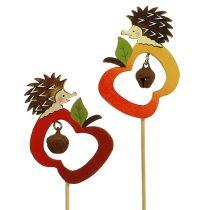 Herbststecker Igel mit Apfel 7cm 12St