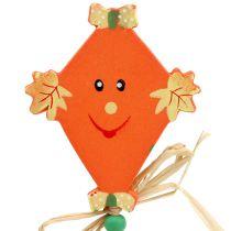 Herbststecker Drachen orange L31cm 4St