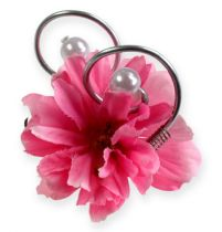 Hochzeitsanstecker mit Perlen, Silber 8cm 24St