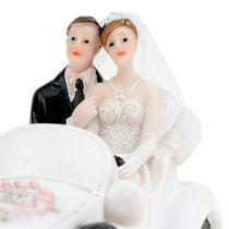 Hochzeitfigur Brautpaar im Cabrio 15cm