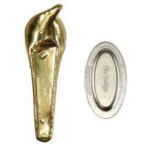 Hochzeitsanstecker mit Magnet Gold 5cm