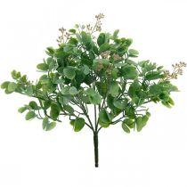 Hochzeitsdeko Eukalyptus-Zweige mit Blüten Dekostrauß Grün, Rosa 26cm