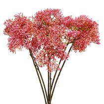 Holunderblütenzweig Rosa 54,5cm 4St