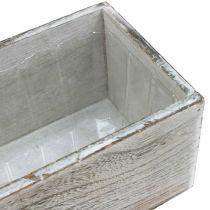 Pflanzkasten, Deko-Kiste, Übertopf, Holzgefäß L25cm