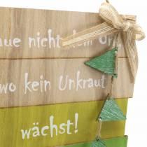 Holzschild Traue nicht dem Ort… 22×23cm 2St