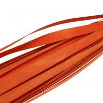 Holzstreifen zum Flechten Orange 95cm - 100cm 50St