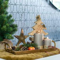 Holztablett mit Griffen, Dekoschale, Mangoholz L39,5cm
