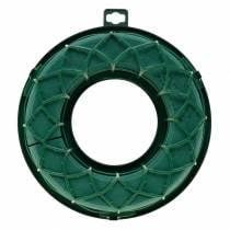 OASIS® IDEAL Universal Ring Steckschaum-Kranz Grün H4cm Ø18,5cm 5St