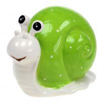 Keramikschnecke 12cm Grün 4St