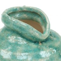 Keramikvase Antikblau H9cm