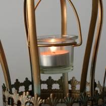 Deko Krone Teelichthalter Gold Ø19cm H29cm